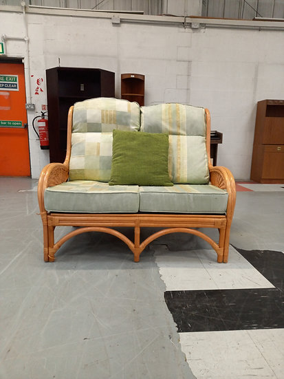 2 Seater Cane Consevtory Sofa