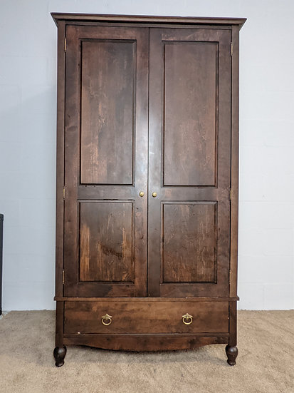 Marks & Spencer 2 Door Solid Dark Wood Wardrobe
