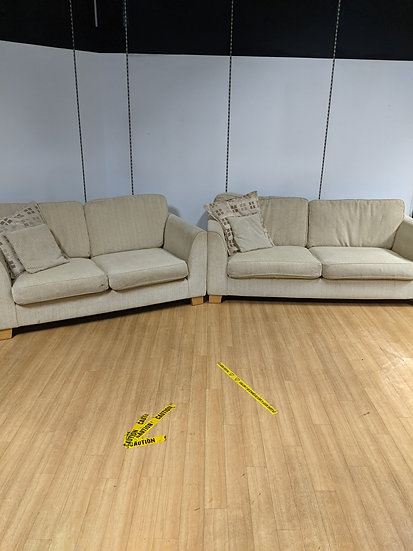 Biscuit 3 and 2 Seater Sofa