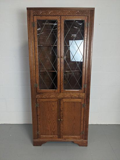 Stanley Wood Corner Display Cabinet