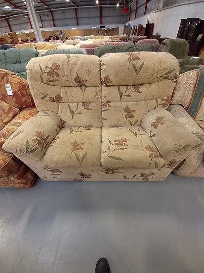 Two Seater Floral Beige Sofa