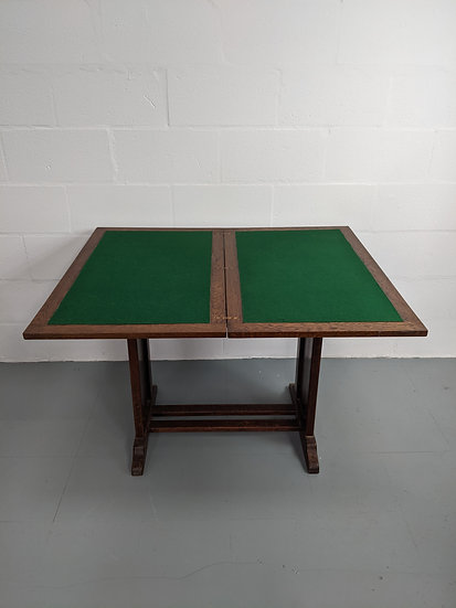 1960's Vintage Wooden Card Table