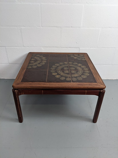 Vintage Decorative Tiled Coffee Table
