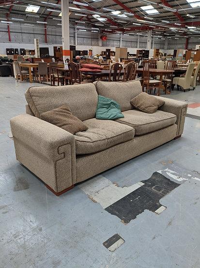Large 2 Seater Light Brown Sofa
