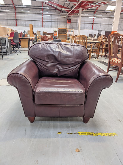Brown Leather Single Armchair