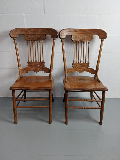 2 Decorative Wooden Chairs