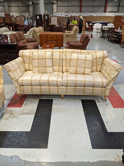3 Seater Checked Sofa