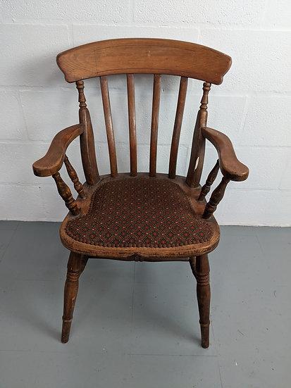 Vintage Spindle Back Wooden Chair