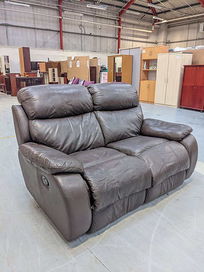 2 Seat Brown Leather Recliner