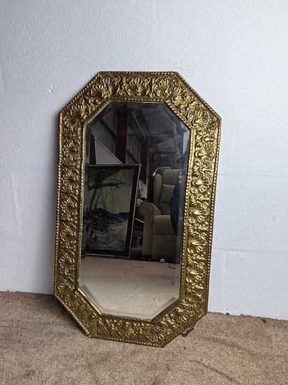 Portrait Gold Colour Ornate Metal Mirror