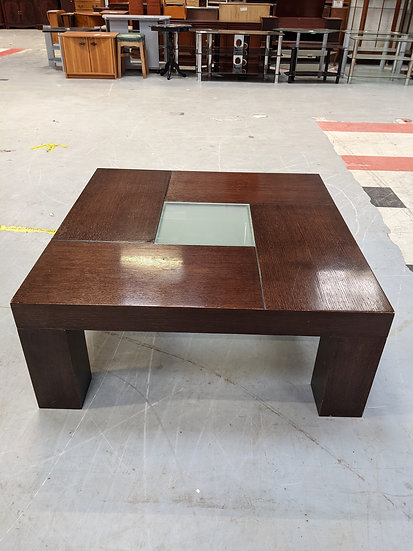 Square Dark Wooden Coffee Table