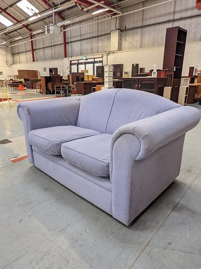 Small Violet Fabric 2 Seat Sofa
