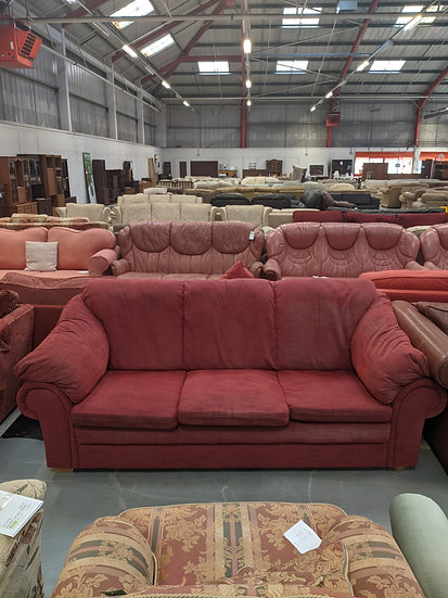 Three Seater Red Sofa