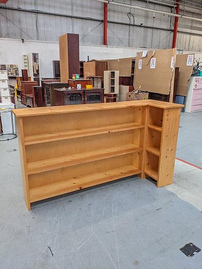 Solid Pine Corner Shelf Unit
