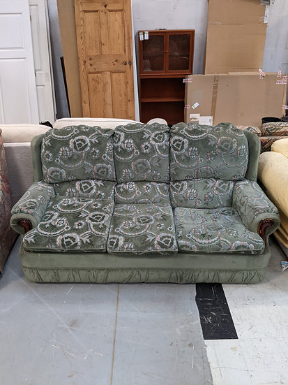 3 Seater Green Sofa
