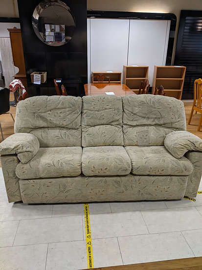 Floral patterned 3 seater sofa