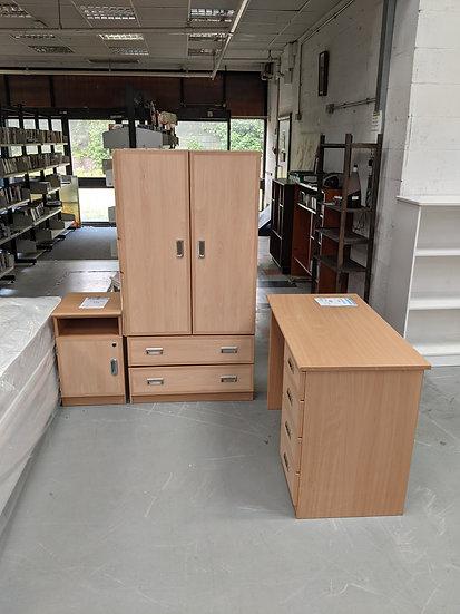 MDF Solid Build Bedroom Set