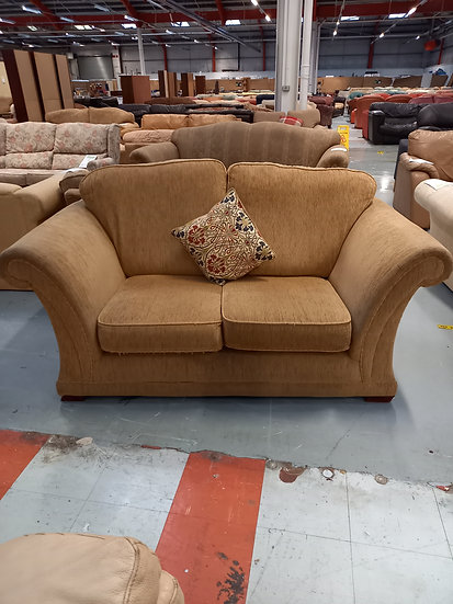 Two Seater Beige Fabric Sofa