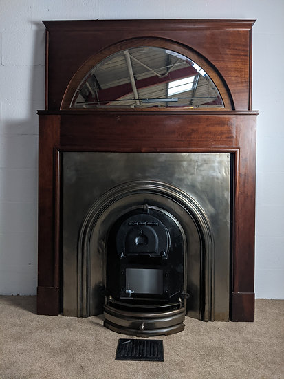 Vintage Wood, Iron And Stainless Steel Fire Surround