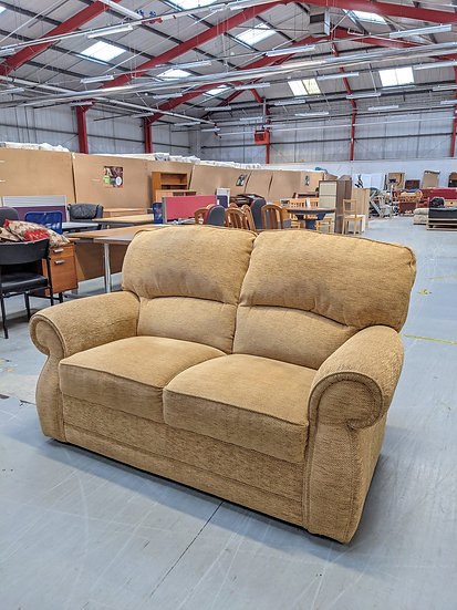 Sandy Brown 2 Seat Sofa