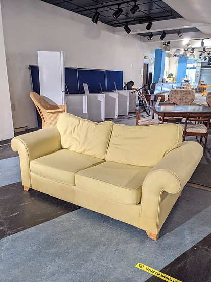 DFS Yellow Fabric Sofa Bed