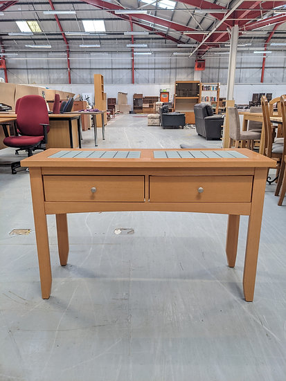 Glass Topped Wooden Sideboard