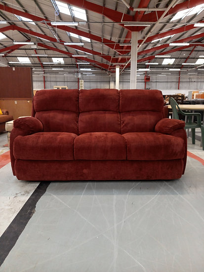 Red Rust 3 Seater Sofa