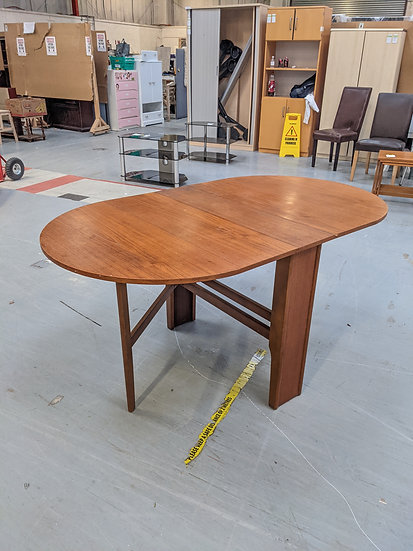Teak Gate Leg Drop Leaf Table