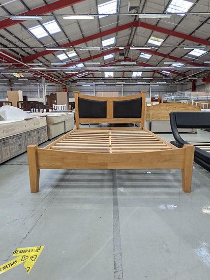 Julian Bowen Light Pine Double Bed Frame