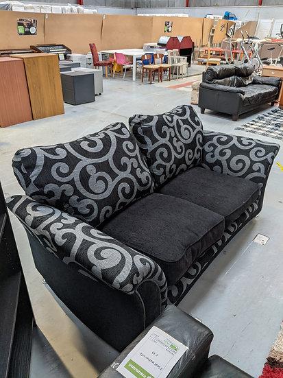 2 Seater Grey/Black Sofa