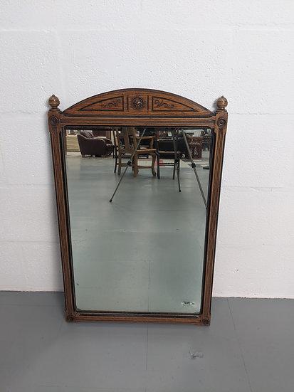 Vintage Ornate 1970's Wooden Framed Mirror