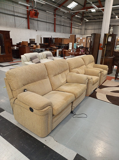 3 Piece Electrical Reclining Sofa Suite