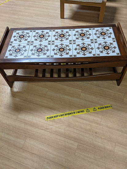 Tile topped coffee table