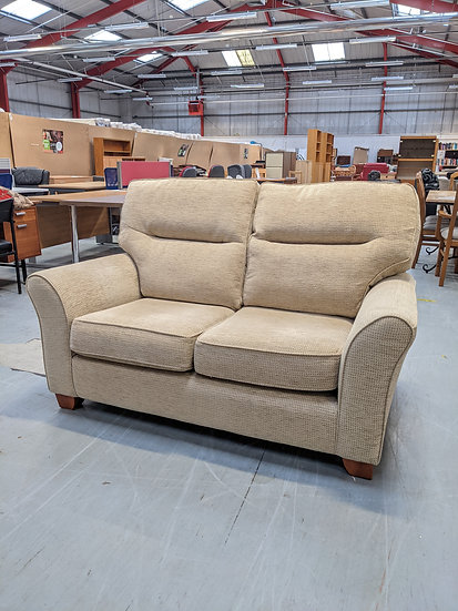 2 Seater Biege Fabric Sofa