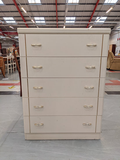 White Chest of 5 Drawer Upcycle Project