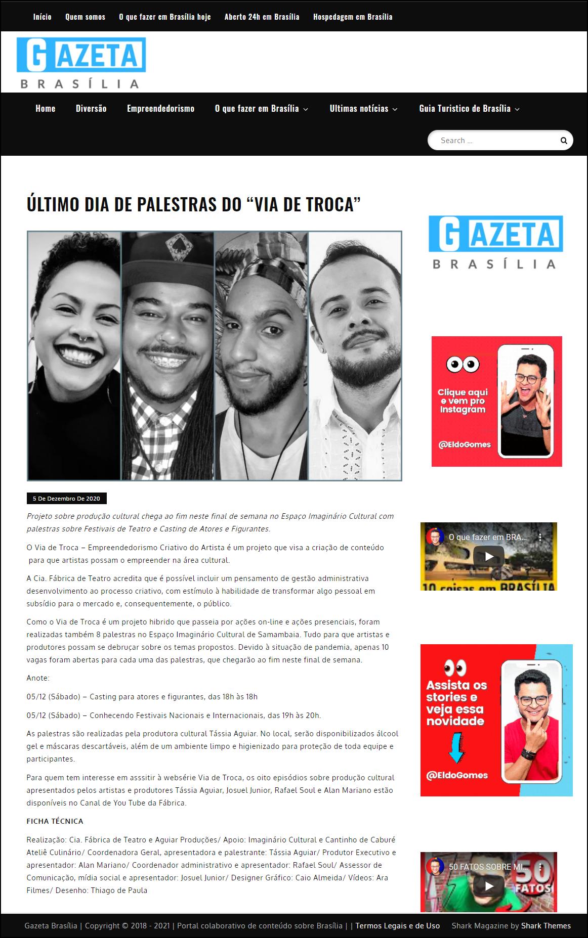 Gazeta Brasília - Matéria 2