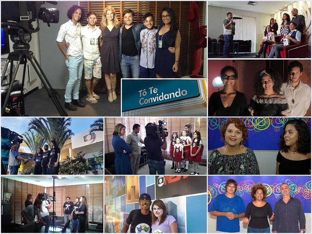 """Artistas gravando """"Tô te convidando"""" - Acervo Josuel Junior"""