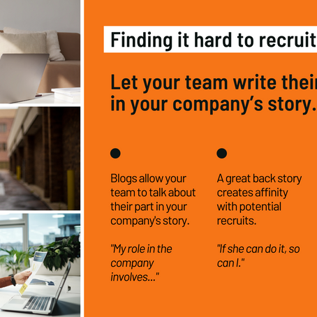 Finding it hard to recruit? Let your team write their chapter in your company's story.