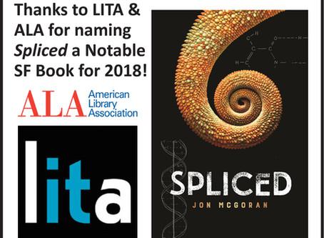 Spliced honored by ALA/LITA & ABA!
