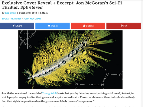Exclusive Splintered Cover Reveal and Excerpt in Paste Magazine!