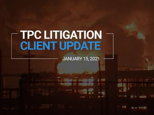 TPC Explosion Litigation Client Update | January 2021