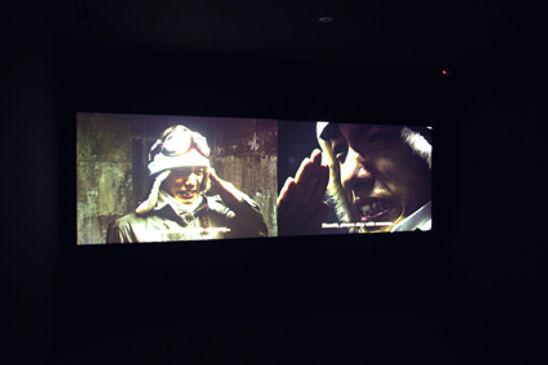 portrait of a young samurai installation