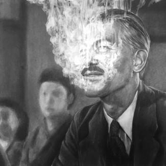 """""""Fog #4""""  2019, Charcoal on paper 54.5 x 73 cm"""