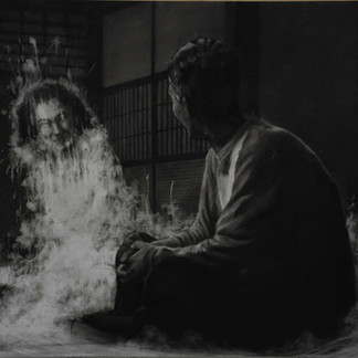 """""""Fog #12""""  2020, Charcoal on paper 54.5 x 73 cm"""