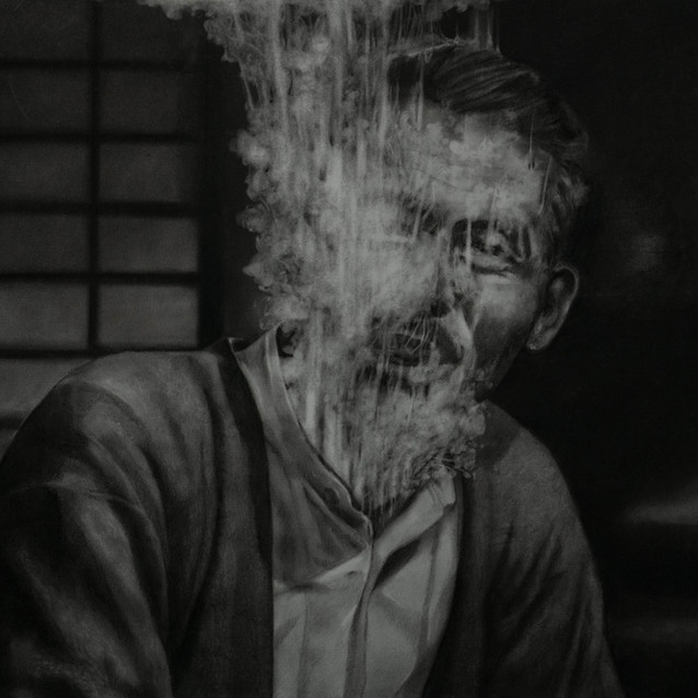 """""""Fog #10""""  2020, Charcoal on paper 54.5 x 73 cm"""