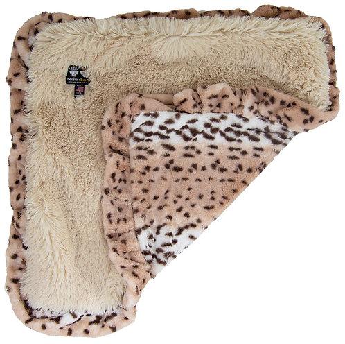 Blonde Snow Leopard Blanket