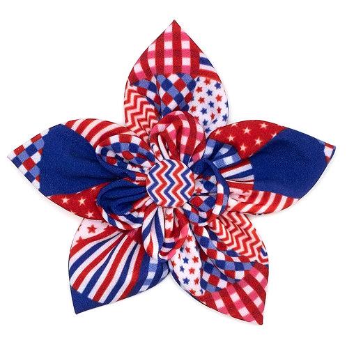 Americana Flower Tie