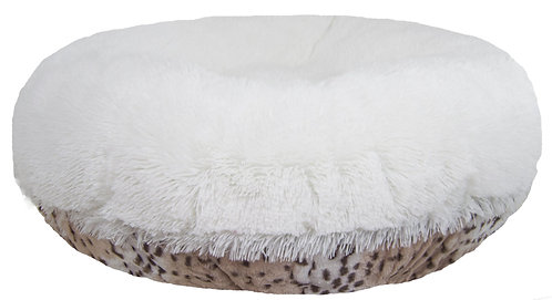Aspen Snow Leopard Bagel Bed