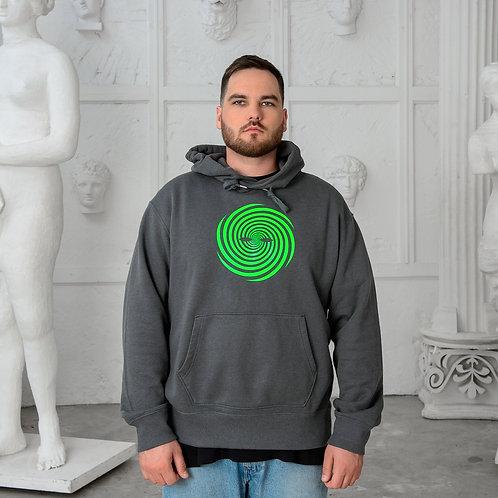 SURREAL green logo hoodie