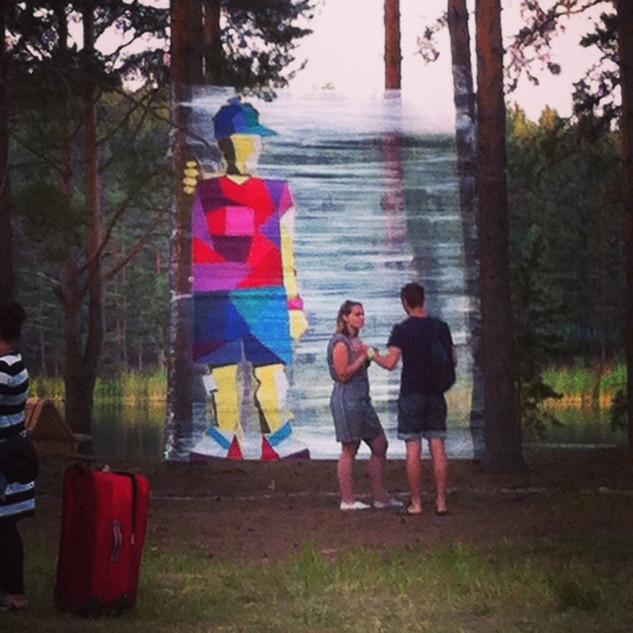 ТРЕУГОЛЬНОМЭН TRIANGLE MAN  Spray art 2014